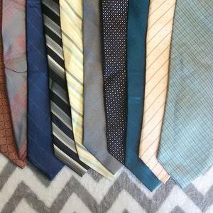 Calvin Klein 10 lot of Ties.  100% silk